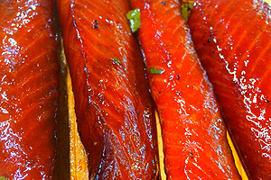 Teriyaki Wild Alaska King Salmon Strips
