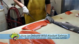 how to debone wild Alaska salmon